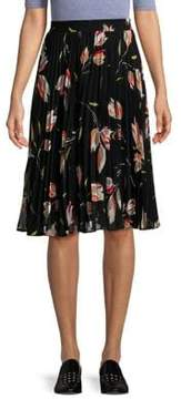 Context Floral Pleated Skirt