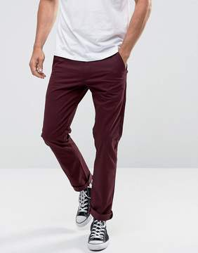 Farah Elm Slim Fit Chino in Burgundy