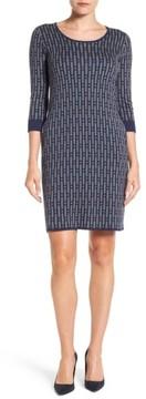 Foxcroft Women's Geo Print Sweater Dress