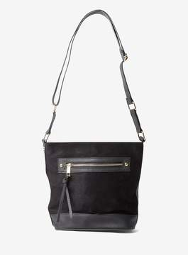 Dorothy Perkins Black Zip Bucket Bag