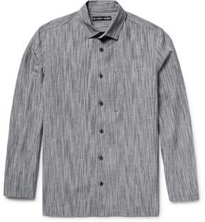 Issey Miyake Textured Cotton, Linen And Ramie-Blend Shirt