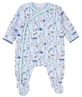 Little Marc Jacobs Allover Cartoon-Print Footie Pajamas, Size 3-9 Months