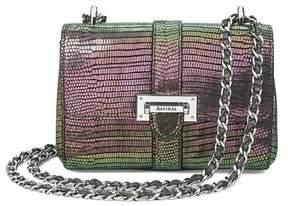 Aspinal of London | Micro Lottie Bag In Iridescent Lizard | Iridescent lizard