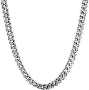 Lynx Stainless Steel Foxtail Chain Necklace - 24 in. - Men