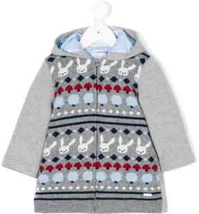 Simonetta bunny knitted hoodie