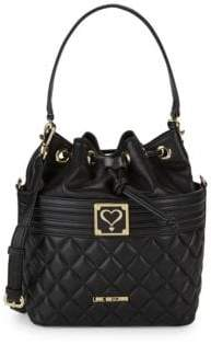 Love Moschino Quilted Bucket Bag