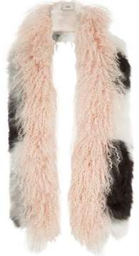 River Island Womens Light pink mongolian fur mono mixed scarf