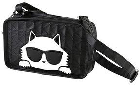Karl Lagerfeld Girls' Stitched Shoulder Bag w/ Choupette Detail