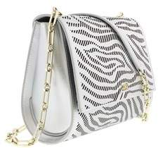 Roberto Cavalli Small Shoulder Bag Audrey 001 Silver Shoulder Bag.