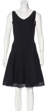 Alaia Fit and Flare V-Neck Dress