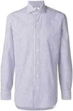 Barba long sleeved striped shirt