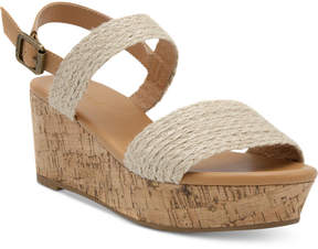 Nautica Birnbach Platform Wedge Sandals Women's Shoes