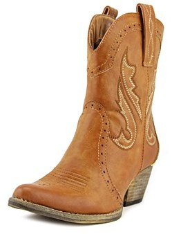 Very Volatile Markie Women Pointed Toe Synthetic Western Boot.