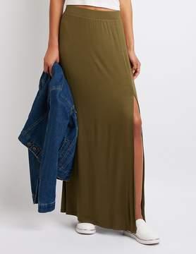 Charlotte Russe Single Slit Maxi Skirt