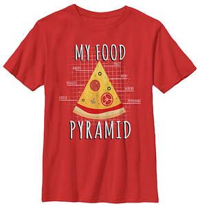 Fifth Sun Red 'My Food Pyramid' Tee - Youth