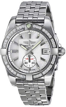 Breitling Galactic 36 Automatic Diamond Mother of Pearl Dial Ladies Watch A3733053-A716SS