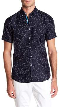 Report Collection Microtouch Anchor Short Sleeve Slim Fit Shirt