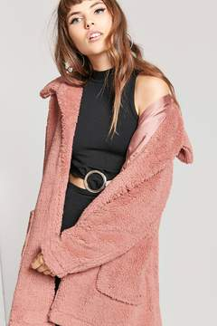Forever 21 Open-Front Faux Fur Coat
