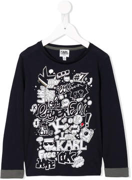 Karl Lagerfeld multiprint longsleeved T-shirt