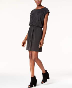Bar III Cuffed-Sleeve Tie Dress, Created for Macy's