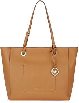 Michael Kors Large Walsh Tote Bag - BROWN - STYLE