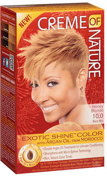 Creme Of Nature Argan Oil Exotic Shine Permanent Hair Color Honey Blonde