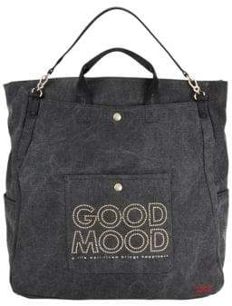 Peace Love World North South Studded Tote