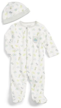 Little Me Infant Boy's Safari Footie & Hat Set