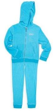 Juicy Couture Girl's Velour Sequin Logo Tracksuit Set