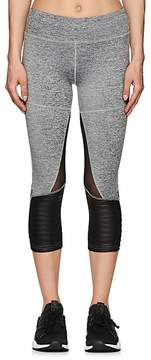 Electric Yoga WOMEN'S COTTON-BLEND CROP BIKER LEGGINGS