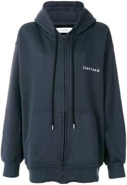 Facetasm rear print hooded jacket