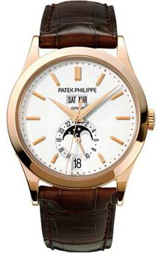 Patek Philippe 18K Rose Gold / Leather Automatic 38mm Mens Watch