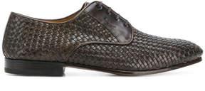 Salvatore Ferragamo woven Derby shoes