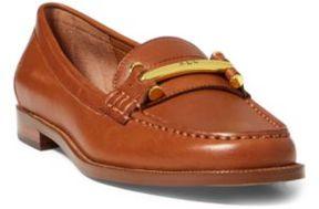 Ralph Lauren Flynn Calfskin Loafer Deep Saddle Tan 10