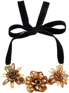Erickson Beamon Vermeil Bouquet 24K Gold-Plated Crystal Necklace