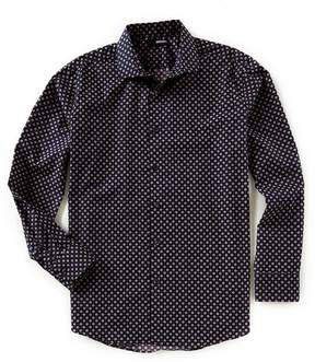 Murano Big & Tall Stars Print Long-Sleeve Woven Shirt