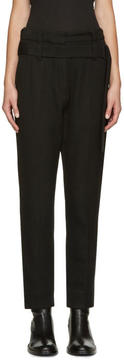 Ann Demeulemeester Black Belted Trousers
