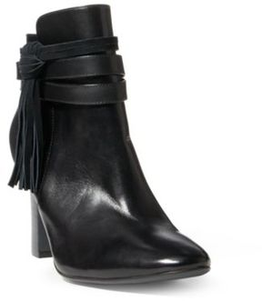 Ralph Lauren Belcia Calfskin Boot Black/Black 6