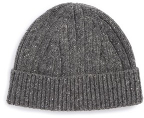 Nordstrom Wool Blend Beanie - Black