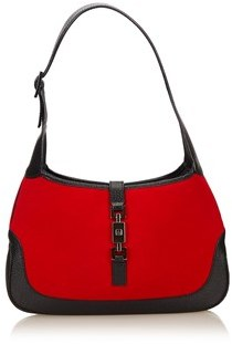 Gucci Pre-owned: Wool Jackie Shoulder Bag. - RED X BLACK - STYLE