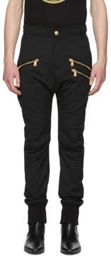 Pierre Balmain Black Multi Zipper Cuffed Trousers