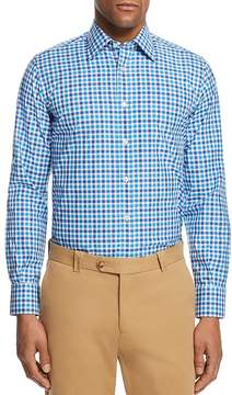 Canali Check Regular Fit Button-Down Shirt