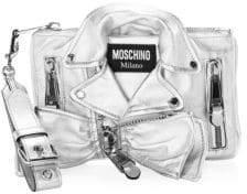 Moschino Metallic Biker Jacket Shoulder Bag