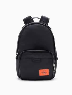 Calvin Klein monogram logo nylon twill campus backpack