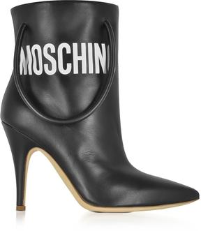 Moschino Black Nappa Leather Boots