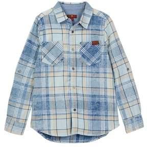 7 For All Mankind Long Sleeve Plaid Shirt (Big Boys)