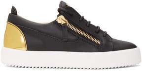 Giuseppe Zanotti Black and Gold May London Sneakers