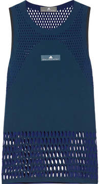 adidas by Stella McCartney Climacool Perforated Stretch Tank - Navy