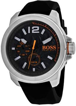 HUGO BOSS Orange 1513346 Men's Black Silicone and Stainless Steel Watch