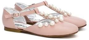 Simonetta pearl detail ballerinas